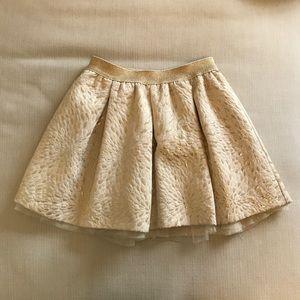 Gap Kids gold skirt